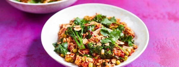 Indian-spiced pilau with Tenderstem® broccoli
