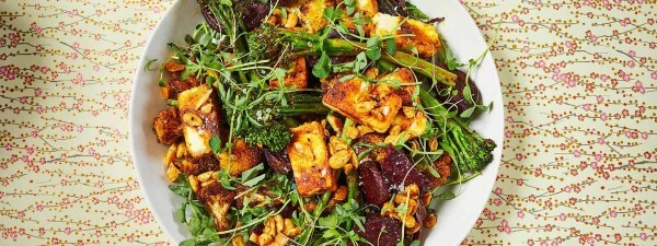Indian-spiced salad with Tenderstem® broccoli, paneer and beetroot