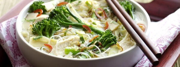 Tenderstem® broccoli & Chicken Vietnamese Noodle Soup