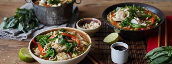 Tenderstem® broccoli Thai Fish Noodle Soup