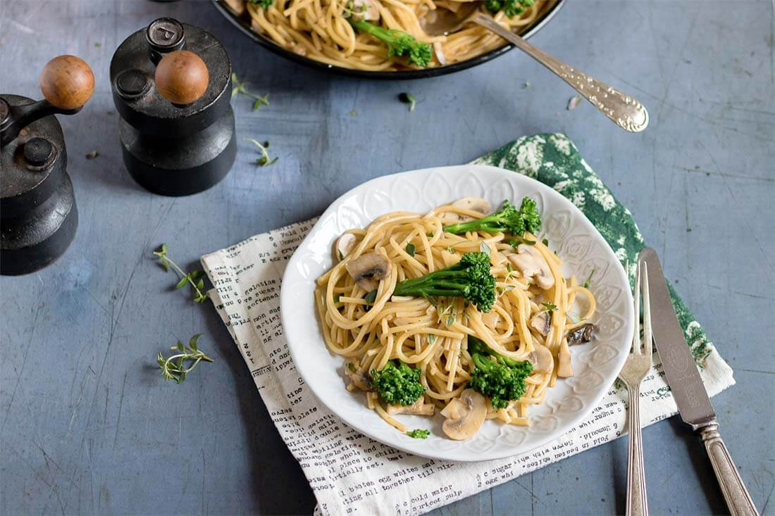 Tenderstem-and-mushroom-one-pot-pasta-1