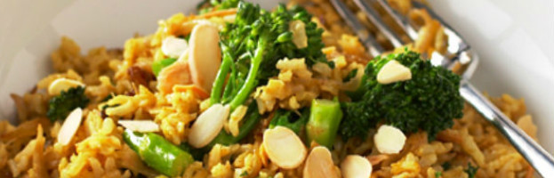 Tenderstem broccoli biryani
