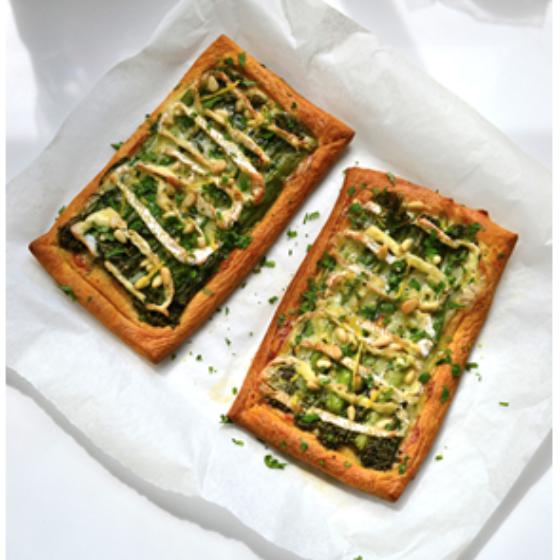 Tenderstem® & Camembert Croissant Tarts